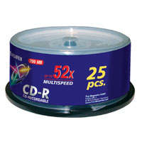 Cd-r 700MB 52x Spindle 25-pk