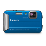"Panasonic Lumix DMC-FT30 Compact camera 16.1 MP CCD 4608 x 3456 pixels 1/2.33"" Blue"