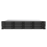 QNAP TS-1253DU-RP J4125 Ethernet LAN Rack (2U) Aluminium, Black NAS TS-1253DU-RP-4G/144TB-EXOS