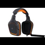 Logitech G231 Binaural Head-band Black,Orange headset