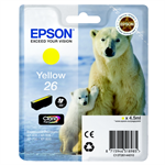 Epson C13T26144010 (26) Ink cartridge yellow, 300 pages, 5ml