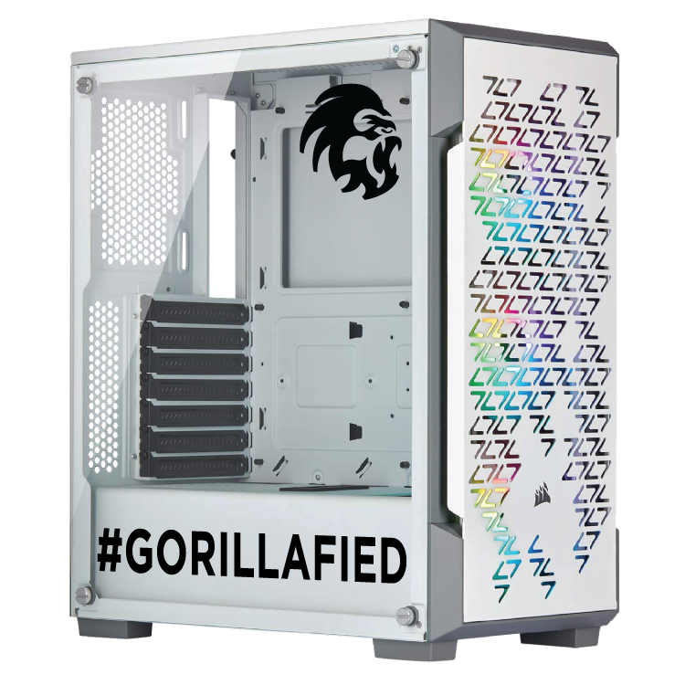 Gorilla Gaming Killer Gorilla: V2.1 - Core i5 9600K 3.7Ghz, 16GB RGB RAM, 512GB SSD, 1TB HDD, 2070 Super