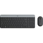 Logitech MK470 Slim Wireless Combo keyboard RF Wireless AZERTY French Graphite
