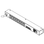 Raritan PXE-1190R 8AC outlet(s) 1U Black power distribution unit (PDU)