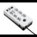 Eaton PB6UD limitador de tensión 6 salidas AC 220 - 250 V Negro, Blanco 1,5 m