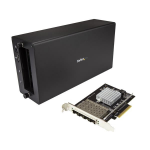 StarTech.com Thunderbolt 3 to 10GbE Fiber Network Chassis 4 Port