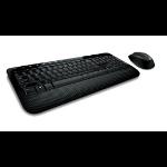 Microsoft Wireless Desktop 2000, DEU Tastatur RF Wireless Schwarz