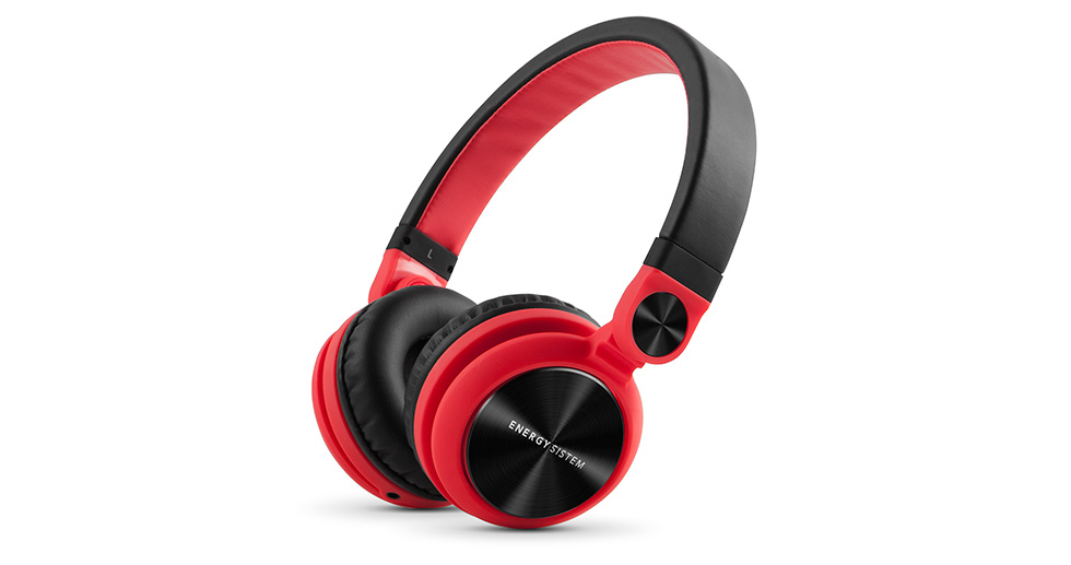 Energy Sistem DJ2 Auriculares Diadema Negro, Rojo