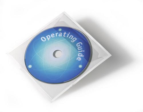 Durable POCKETFIX Cover 1 discs Transparent