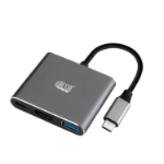 Adesso AUH-4010 interface hub USB 3.2 Gen 1 (3.1 Gen 1) Type-C Grey