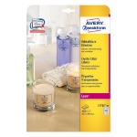 Avery L7781-25 self-adhesive label Transparent Rectangle Permanent 1000 pc(s)