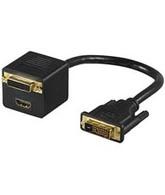 Microconnect 68738 Cable splitter Black cable splitter/combiner
