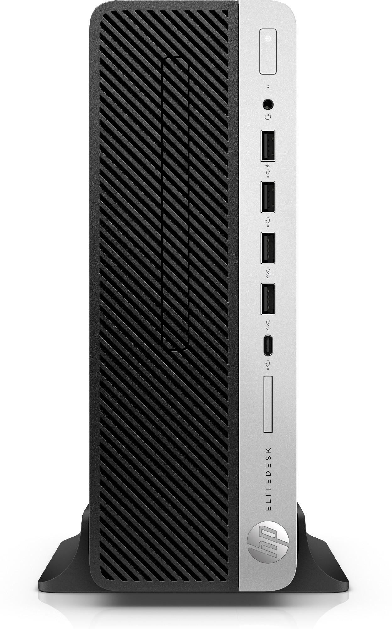HP EliteDesk 705 G4 AMD Ryzen 5 2400G 8 GB DDR4-SDRAM 256 GB SSD Black,Silver SFF PC