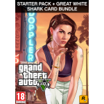 Rockstar Games Grand Theft Auto V Criminal Enterprise Starter Pack and Great White Shark Card Videospiel PC Basic+Add-on
