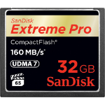 Sandisk 32GB Extreme Pro CF 160MB/s 32GB CompactFlash memory card