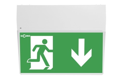 SiCurio Exit emergency lamp Green,White