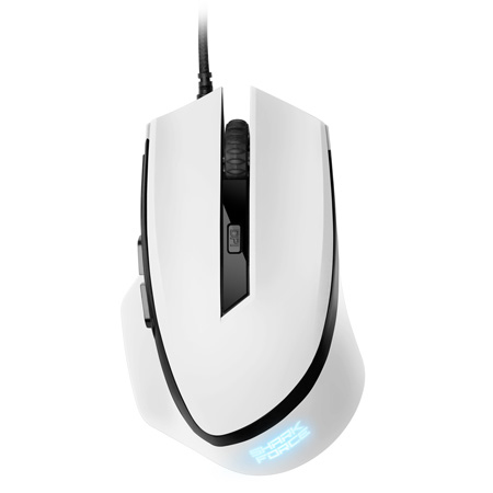 SHARK FORCE WHITE GAMING MOUSE(600 / 1000 / 1600 DPI)