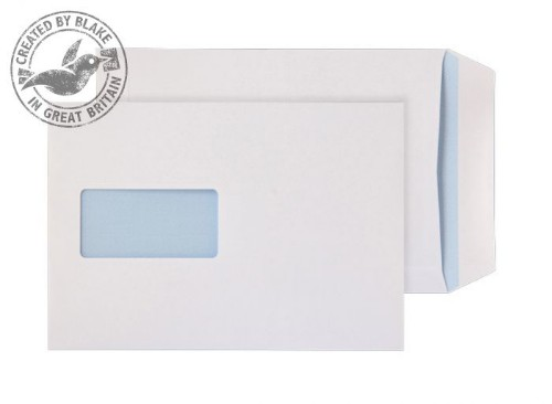 Blake Purely Everyday White Window Self Seal Pocket C5 229X162mm 90gsm (Pack 25)