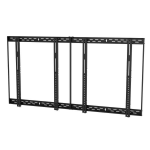 "Peerless DS-VW655-2X2 55"" Black flat panel wall mount"