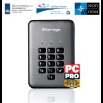 iStorage diskAshur PRO2 256-bit 2TB USB 3.1 secure encrypted hard drive IS-DAP2-256-2000-C-G