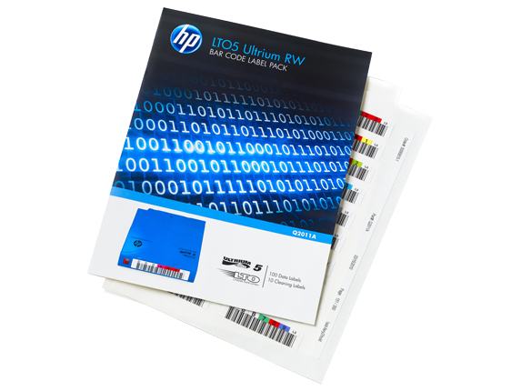 HPE LTO-5 Ultrium WORM Bar Code label pack