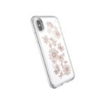 """Speck Presidio Clear + Print iPhone XS / X mobile phone case 14.7 cm (5.8"""") Cover Gold, Transparent"""