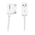 StarTech.com USB2ADC1MR 1m USB A Apple 30-p White mobile phone cable