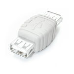 StarTech.com Gender Changer USB A Female to USB A Female White cable interface/gender adapter
