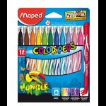 Maped 845420 Black,Blue,Brown,Green,Light Blue,Light Green,Light Magenta,Orange,Pink,Purple,Red,Yellow 12pc(s) felt pen