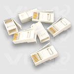 Videk BT631A Plugs 6 Way (10 p.) wire connector White