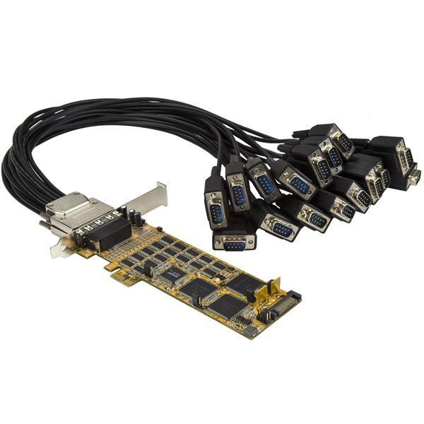 StarTech.com Tarjeta Adaptador Serie PCI Express de 16 Puertos RS232 DB9 - de Perfil Bajo