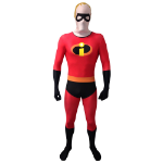 Disney Pixar Mr Incredible Adult Cosplay Costume Morphsuit, Extra Large, Multi-Colour (MLMRICX-XL)