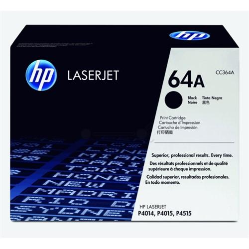 HP LaserJet CC364A Black Print Cartridge with Smart Printing Technology - CC364A