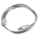 Microconnect USBAB2T 2m USB A USB B Transparent USB cable