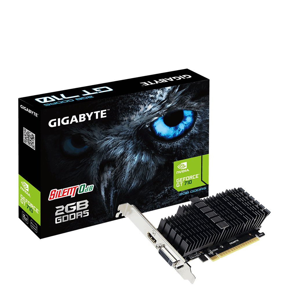 Gigabyte GV-N710D5SL-2GL GeForce GT 710 2GB GDDR5 graphics card