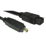 Cables Direct CDLIEE-1002 FireWire cable 9-p 4-p Black 2 m