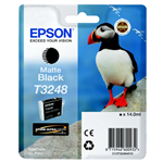 Epson C13T32484010 (T3248) Ink cartridge black matt, 650 pages, 14ml