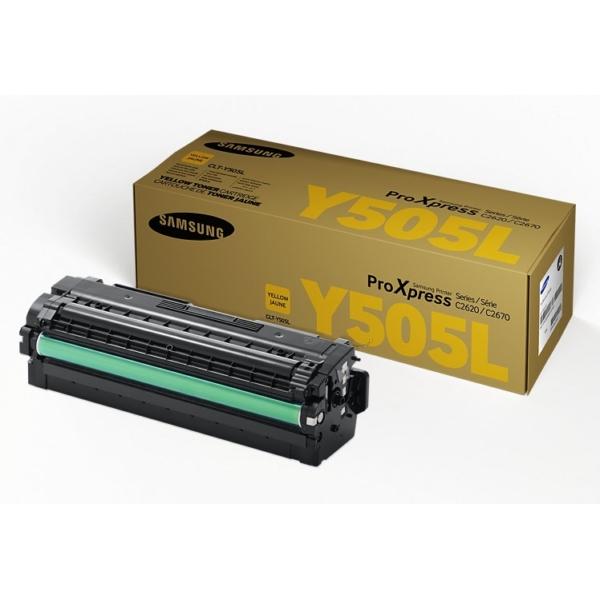 Samsung CLT-Y505L/ELS (Y505L) Toner yellow, 3.5K pages