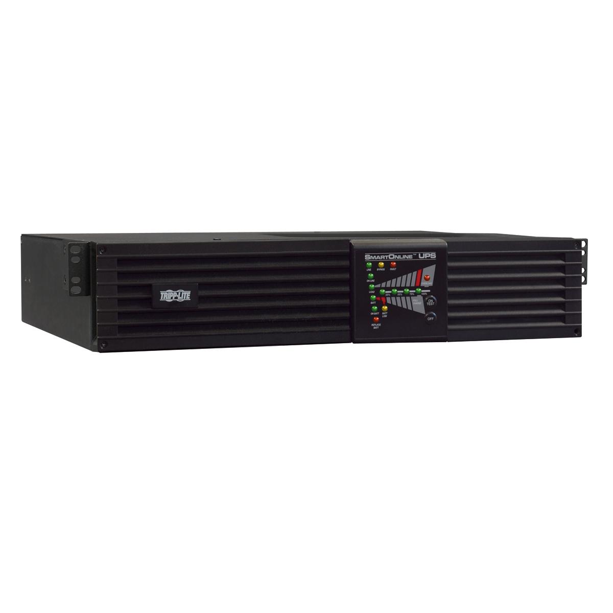 Tripp Lite SmartOnline 208/240, 230V 3kVA 2.5kW Double-Conversion UPS, 2U Rack/Tower, Extended Run, Network Card Options, USB, DB9 Serial