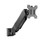 Brateck Slatwall Gas Spring Monitor Arm, Effortless Monitor Height Adjustment with Gas Spring, for 13'-27' S
