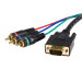 StarTech.com 3 ft HD15 to Component RCA Breakout Cable Adapter - M/M