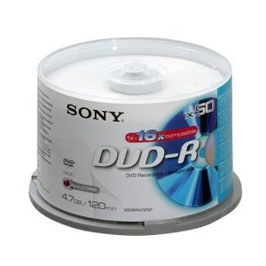 Sony DVD-R 16x, 50 4,7 GB 50 stuk(s)