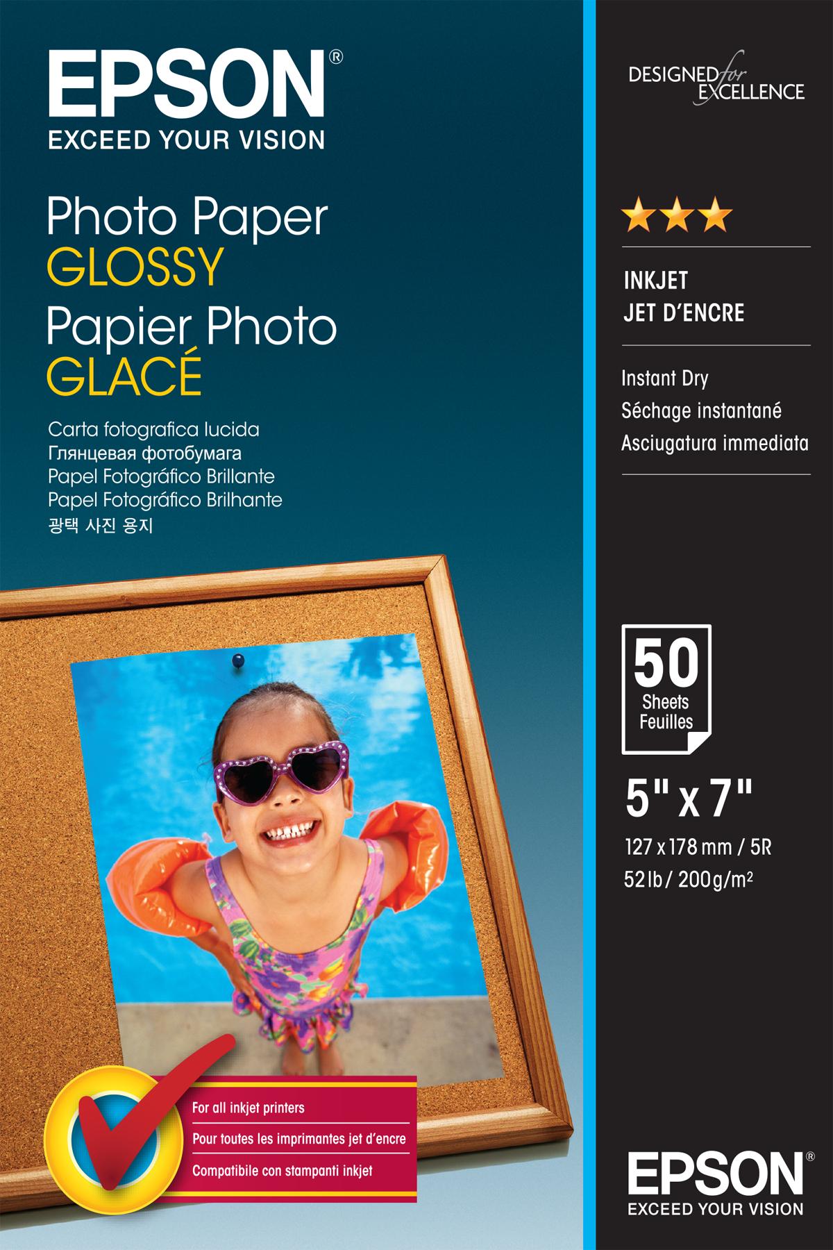 Epson Photo Paper Glossy - 13x18cm - 50 Vellen