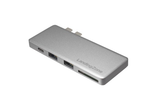 Landing Zone OH001G interface hub USB 3.0 (3.1 Gen 1) Type-C 40000 Mbit/s Grey