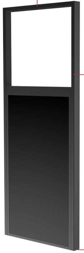 "Peerless DS-OM46ND-FLOOR signage display mount 139,7 cm (55"") Negro"