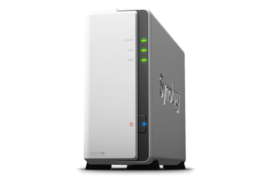 Synology DiskStation DS115j 1 Bay Desktop Network Attached Storage Enclosure