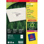 Avery QuickPEEL self-adhesive label White 100 pc(s)