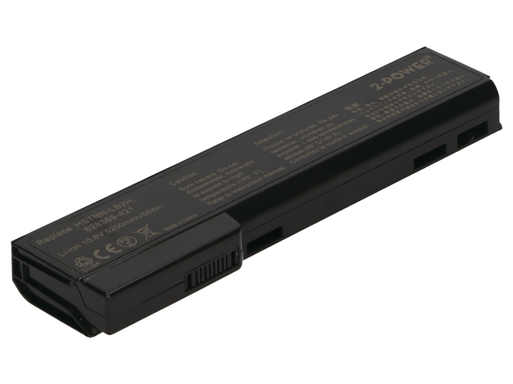 2-Power 10.8v, 6 cell, 57Wh Laptop Battery - replaces 628664-001