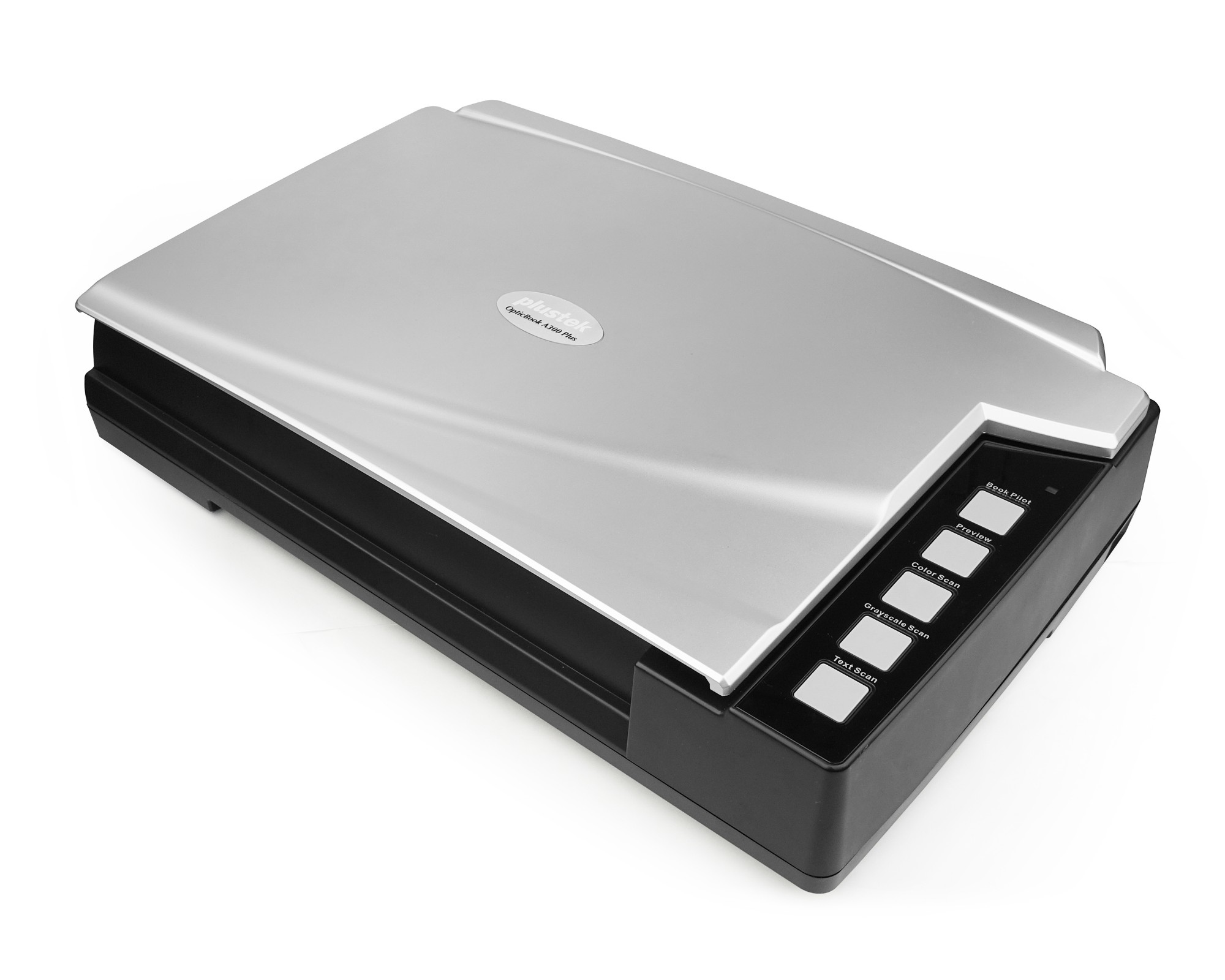 Plustek OpticBook A300 Plus Flatbed scanner 600 x 600 DPI A3 Black, Silver