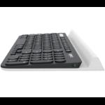 Logitech 920-008028 RF Wireless + Bluetooth Aluminium,Black keyboard